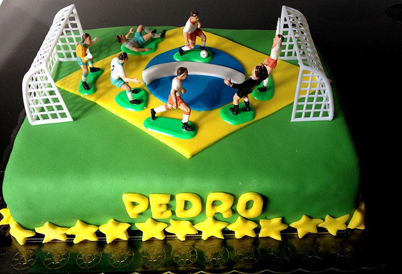 Bolo Futebol Brasil Copa do Mundo