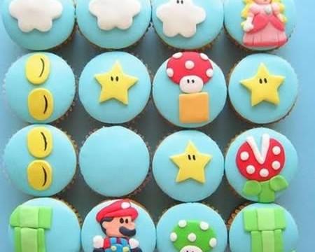 cupcake mario bros 450x360 Bolos e Tortas