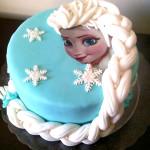 Bolo da Elsa Frozen
